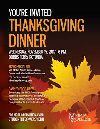 thanksgiving dinner mercy college