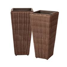 textured resin planters pots u0026 planters the home depot