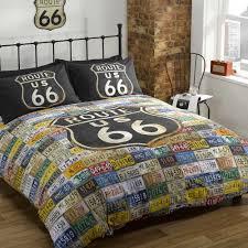American Flag Comforter New York Route 66 American Flag Reversible Quilt Duvet Cover