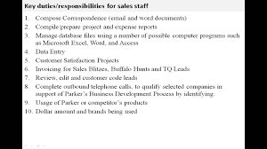 Sale Associate Job Description On Resume by Sales Staff Job Description Youtube