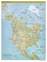 Map Of North America Countries by Large Detailed Relief And Political Map Of North America With The