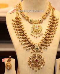 gold necklace collection images Gold jewellery design necklace and earrings jewellery designs jpg