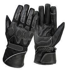 spg winter gloves men full finger bike leather touch screen glove