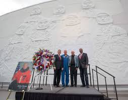 mercury astronaut john glenn 1921 2016 collectspace messages held in front of heroes legends featuring the u s astronaut hall of fame the ceremony included remarks by space shuttle astronaut jon mcbride
