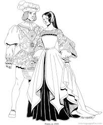 printable coloring pages renaissance renaissance costumes and clothing coloring pages 19 free printable