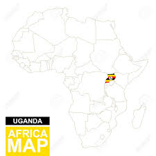 uganda map vector africa contoured map with highlighted uganda uganda map and
