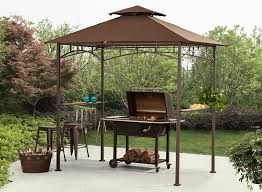 Walmart Bbq Grill Gazebo by Amazon Com Sunjoy 8 U0027x 5 U0027 Soft Top Grill Gazebo With 4pcs Led