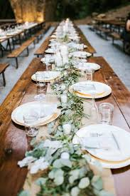 Wedding Breakfast Table Decorations Best 25 Wedding Table Garland Ideas On Pinterest Wedding Table