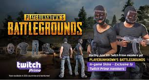 pubg skins will the twitch prime gear be marketable pubg