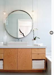 round mirror bathroom home design