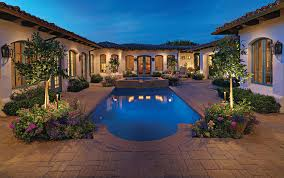 Beautiful Pools Modern Media Consoles Pool Mediterranean With Backyard Retreat