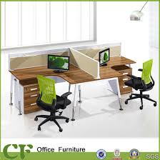 T Shaped Desk For Two China T Shaped Two Seater Office Partition Wooden Furniture Staff