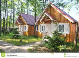 two small cabins royalty free stock photos image 5323988