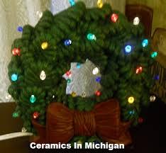 ceramic christmas tree light kit ceramics in michigan tree and wreath page ceramic christmas trees