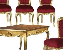 Gold Table L Chair Amazing Set Of 4 Baroque Dining Room Chairs And Gold Table
