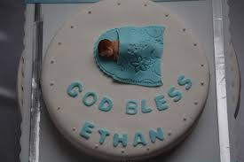 Baby Shower Boy Cakes Customised Cakes By Jen White And Blue Baby Boy Christening Cake