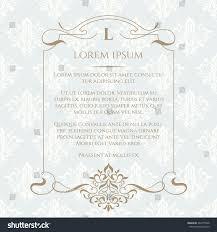 Cards Invitation Frame Border Ornament Classic Seamless Pattern Stock Vector