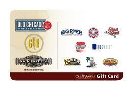 restaurants gift cards craftworks gift card craftworks restaurants breweries