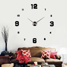 cheap house decor acrylic clock find house decor acrylic clock get quotations diy wall clock eva foam large wall clock 3d mirrors acrylic stickers cool timer for home