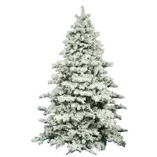9 christmas tree the aisle flocked alaskan 9 white pine artificial unlit