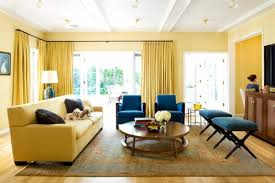 Blue And Yellow Living Room Home Design Ideas - Blue family room ideas