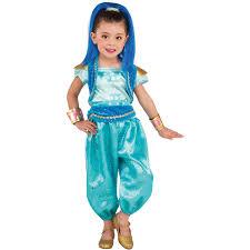 Halloween Costume Girls Shimmer Shine Shine Deluxe Child Halloween Costume Walmart