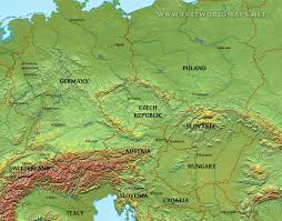 Map Of East And West Germany by Central Europe Physical Map