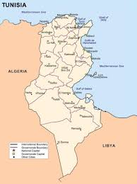 map of tunisia with cities detailed administrative map of tunisia with cities tunisia