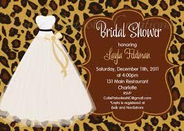 dress invitations leopard print bridal shower invitation wedding dress bridal