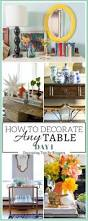 How To Decorate Sofa Table Sofa Table Styling And Blog Hop Up To Date Interiors