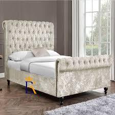 Studded Bed Frame Imogen Scroll Edge Studded Bed Frame Upholstered In Soft
