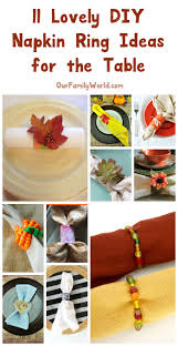 napkin ring ideas 11 lovely diy napkin ring ideas for fall tablescapes