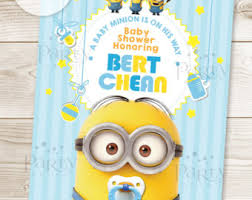 minions baby shower print it yourself digital copy minions standee baby shower