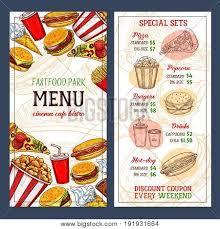 fast food menu template design vector u0026 photo bigstock