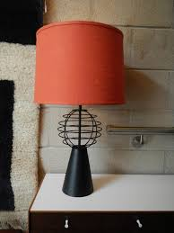 bright orange lamp shade the romantic atmosphere using orange