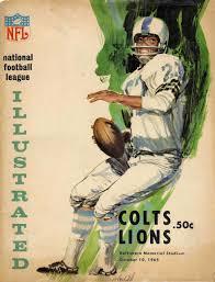 packers vs lions thanksgiving baltimore colts vs detroit lions program vintage sports pictures