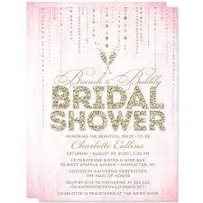 brunch bridal shower invites bridal shower invitations pink gold gems the