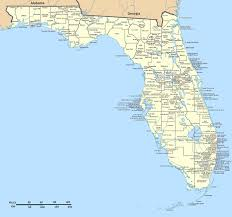 Florida Map Image by Detailed Florida State Map With Cities Florida State Detailed Map