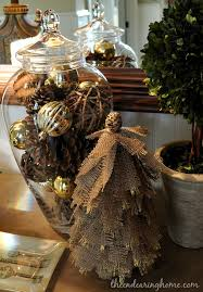 and gold burlap tree