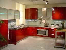 kitchen new interactive design ideas your own home modern kitchen cabinets sets with red glossy color seinless countertops simple cupboards interactive