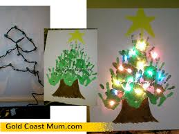 christmas craft ideas handprint canvas gold coast mum
