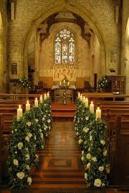 church wedding altar and aisle decor