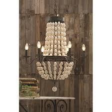 Creative Co Op Chandelier Buy Creative Co Op Chateau Iron Frame With Wood 6 Light