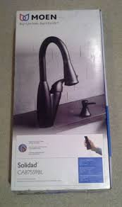 Moen Solidad Kitchen Faucet New Moen Solidad Pulldown Kitchen Faucet Matte Black W Soap