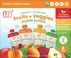 nurturme fruits and veggies stage 2 power blend organic baby food