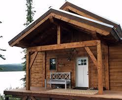 timberframe front porch for alaska lake cabin ana white