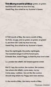 the merry month of may poem by dekker poem