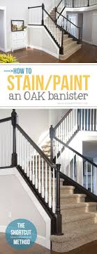 Spindle Staircase Ideas How To Stain Paint An Oak Banister The Shortcut Method No
