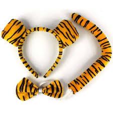 tiger headband tiger headband ears bow tie costume fancy dress