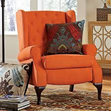 big and tall queen anne style tufted wingback recliner for men